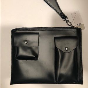 BP. Front Pocket Clutch Women Black New NWT